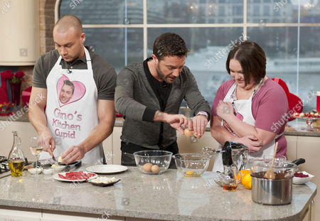Gino D'Acampo with Lee Goodin and Kirsty Meecham