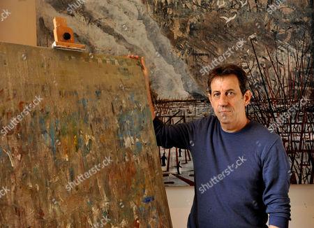 John McDermott in his studio