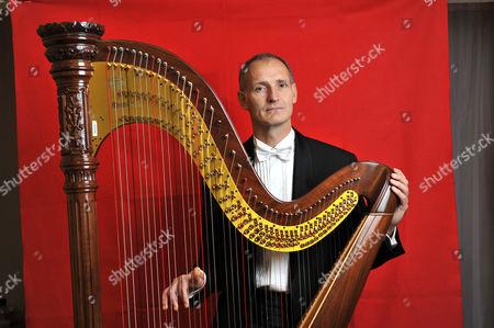 Editorial photo of Luc Walpot, harpist - 12 Dec 2011