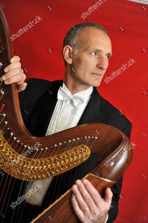Editorial picture of Luc Walpot, harpist - 12 Dec 2011