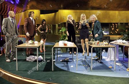 Mat Ricardo, Jonathan Ross, Christina Ricci, Fearne Cotton, Holly Willoughby and Keith Lemon