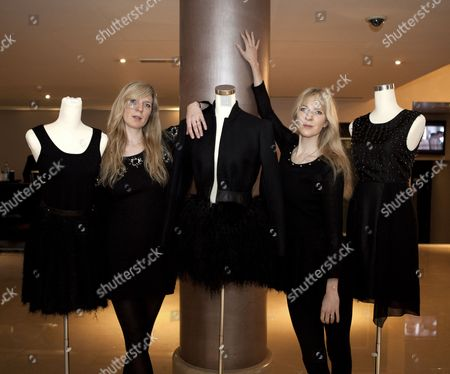 Annette Felder and Daniela Felder at The May Fair Hotel as it unveils its designer windows in celebration of London Fashion Week