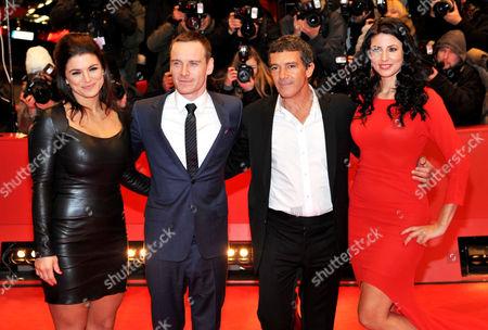 Gina Carano, Michael Fassbender, Antonio Banderas and Natascha Berg