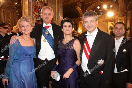 Anna Maria Corazza Bildt, Carl Bildt, Michael Spindelegger and wife Margit