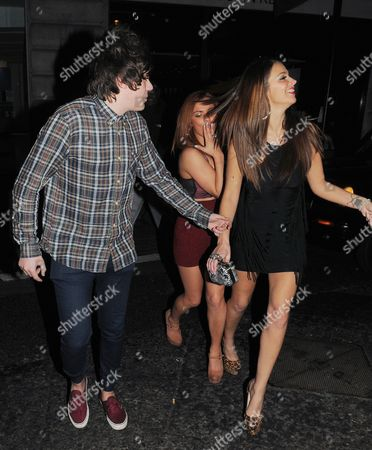 Frankie Cocozza with Natasha Giggs and friend