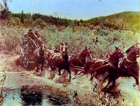 Stagecoach,  Slim Pickens,  Van Heflin