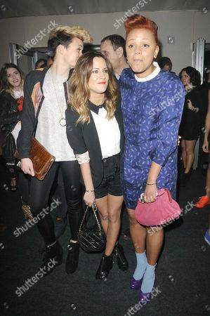 Georgie Okell, Caroline Flack and Gemma Cairney