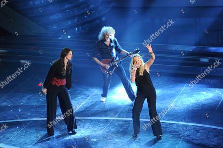 Irene Fornaciari, Brian May and Kelly Ellis