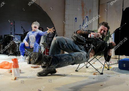 'A Midsummer Night's Dream' - Jonathan Broadbent as Oberon and Ferdy Roberts as Puck