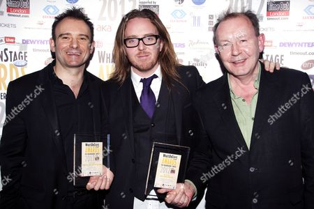 Matthew Warchus, Tim Minchin and Michael Boyd