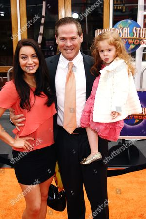 Stock Image of David Barry Gray, wife Channel and daughter Skyler