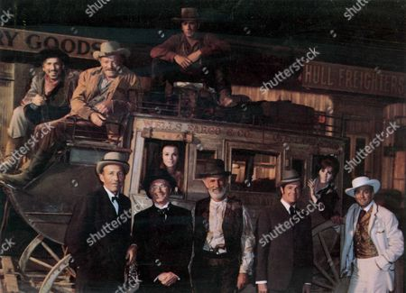 Stagecoach,  Slim Pickens,  Van Heflin,  Bing Crosby,  Red Buttons,  Ann-margret,  Alex Cord,  Keenan Wynn,  Bob Cummings,  Stefanie Powers,  Michael Connors