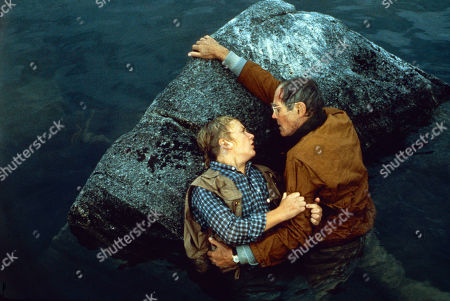 Stock Picture of 'On Golden Pond' Film - 1981 -   Doug McKeon, and Henry Fonda