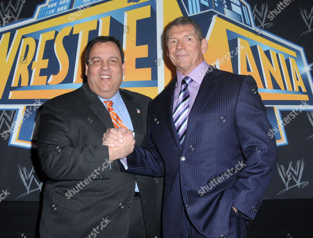 New Jersey Governor Chris Christie and Vince McMahon
