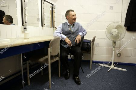 Colin Fry in his dressing room during the interval