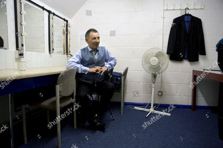 Colin Fry in his dressing room on tour