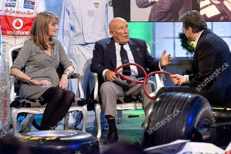 Louise Goodman and Sir Stirling Moss with Alan Titchmarsh