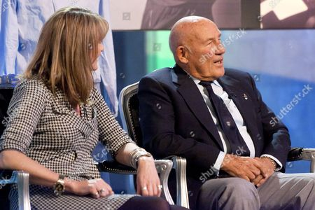 Stock Image of Louise Goodman and Sir Stirling Moss