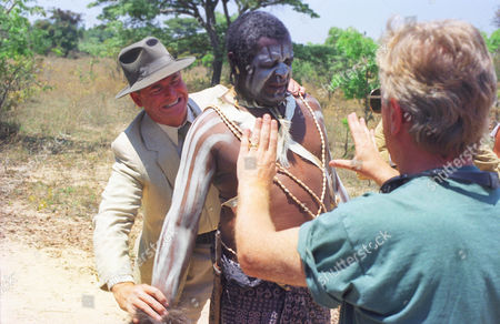 Stock Image of Trevor Eve, Lawrence Simbarashe and Dairmuid Lawrence