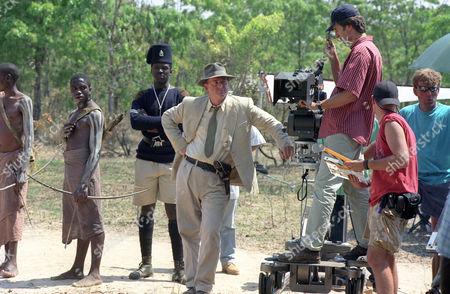 Freddie Annobil-Dodoo and Trevor Eve. Behind the scenes
