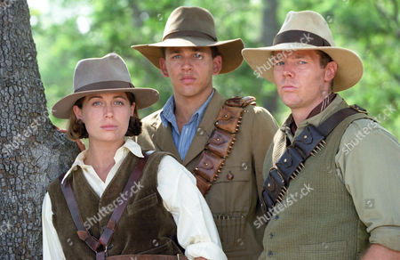 Stock Photo of Sonya Walger, Theo Landey and Charles Simpson