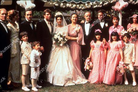 The Godfather,  Robert Duvall,  John Cazale,  Gianni Russo,  Talia Shire,  Morgana King,  Marlon Brando,  James Caan