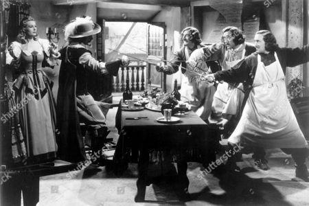 The Three Musketeers (The 3 Musketeers),  Binnie Barnes,  Don Ameche,  Al Ritz,  Jimmy Ritz,  Harry Ritz