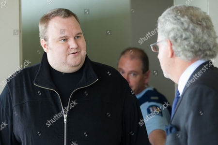 Editorial image of MegaUpload.com founder Kim Dotcom released on bail, North Shore District Court, Auckland, New Zealand - 22 Feb 2012