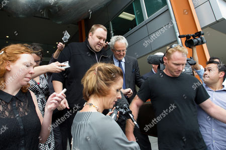 Editorial picture of MegaUpload.com founder Kim Dotcom released on bail, North Shore District Court, Auckland, New Zealand - 22 Feb 2012