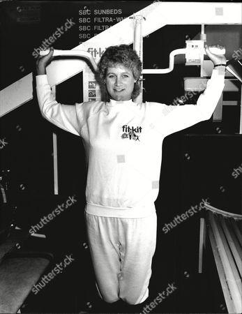 Julie Stevens Keeps Fit At The Ideal Home Exhibition 1984.