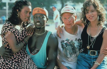 Stock Photo of White Men Can't Jump,  Tyra Ferrell,  Wesley Snipes,  Woody Harrelson,  Rosie Perez