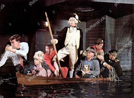 Stock Photo of Who's Minding The Mint?,  Jim Hutton,  Dorothy Provine,  Jack Gilford,  Milton Berle,  Walter Brennan,  Joey Bishop,  Victor Buono