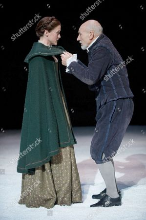Stock Photo of Catherine Cusack as Judith and Sir Patrick Stewart as William Shakespeare