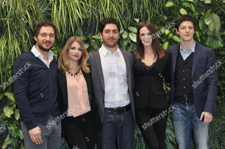 Claudio Santamaria, Miriam Giovanelli, Matteo Rovere, Asia Argento and Andrea Bosca