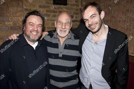 Richard McCabe (Ben Jonson), Sir Patrick Stewart (William Shakespeare) and Angus Jackson (Director)