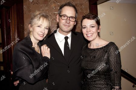 Lindsay Duncan (Judith Bliss), Jeremy Northam (Richard Greatham) and Olivia Colman (Myra Arundel)