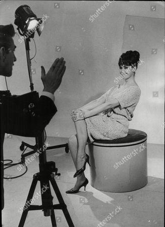 Sally Bradley Hostess Of Tv Game Show Beat The Clock 1963.