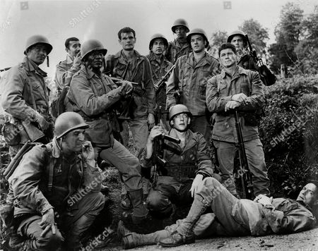 The Dirty Dozen,  Clint Walker,  Al Mancini,  Jim Brown,  Telly Savalas ,  Trini Lopez ,  Donald Sutherland,  Charles Bronson,  John Cassavetes
