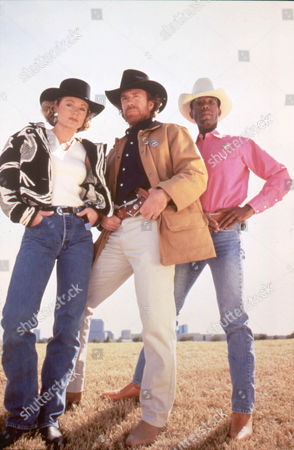 Stock Picture of Walker Texas Ranger ,  Sheree Wilson,  Chuck Norris,  Clarence Gilyard