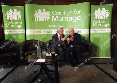 Lord Brennan talks with George Carey