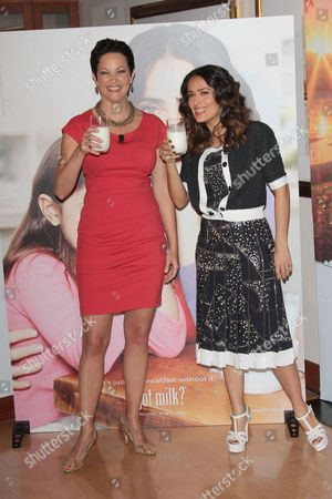 Ellie Krieger and Salma Hayek
