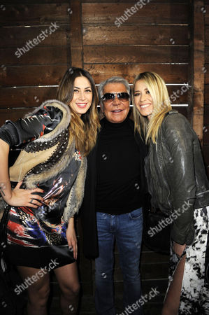 Melissa Satta, Roberto Cavalli and Elena Santarelli