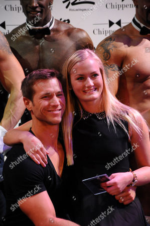 Jake Pavelka and Chippendales audience member