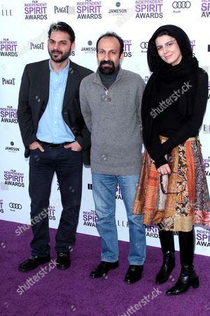 Peyman Moadi, Asghar Farhadi and Leila Hatami