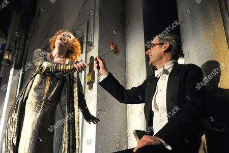 'Hay Fever' - Lindsay Duncan as Judith Bliss, Jeremy Northam as Richard Greatham