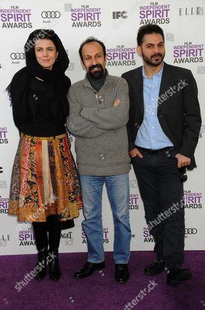 Leila Hatami, Asghar Farhadi and Peyman Moaadi