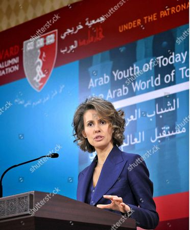 Syria's First Lady, Asma al-Assad during HAAA 6th Arab World Conference in Damascus, Syria