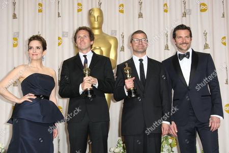 Tina Fey, Kirk Baxter, Angus Wall and Bradley Cooper