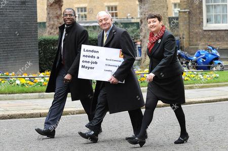 Ken Livingstone, London Assembley Member, Val Shawcross and David Lammy MP