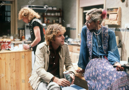 Stock Photo of Nick Staverson as Barry, Paul Nicholas as Sam and Amanda Wissler as Rosemary